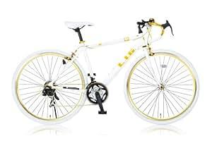 LIG(リグ) 700Cロードバイク アルミフレーム シマノ21段変速[サムシフター] 前輪クイックリリース 前後キャリパーブレーキ LIG UNIWAY ホワイト
