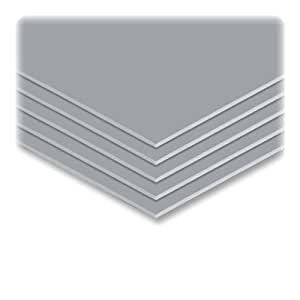 Elmer's 951037 Elmer's Colored Foam Board, 20 x30, 10 Boards/Carton, Graystone