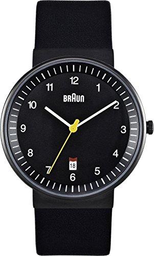 Braun - BN0032BKBKG - Montre Homme - Quartz Analogique - Bracelet Cuir Noir