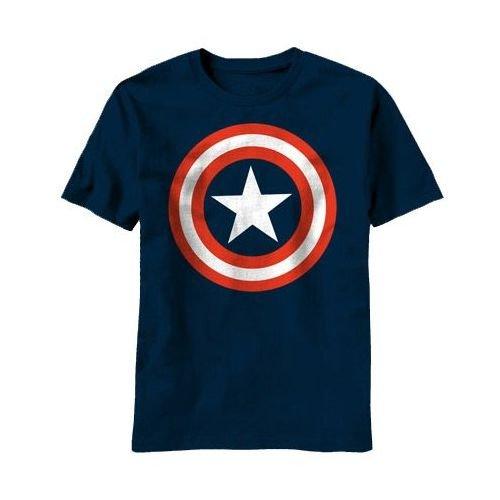 キャプテン・アメリカ シールド ロゴ Tシャツ