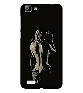 ifasho Chocolate Girl Back Case Cover for VIVO Y53