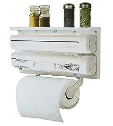 Pindia Kitchen Foil Cutter & Tissue Roll Dispenser Top Shelf