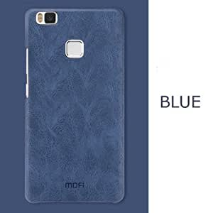 MOFI PU Leather Hard Back Protective Cover Case For Huawei P9 Lite-Blue