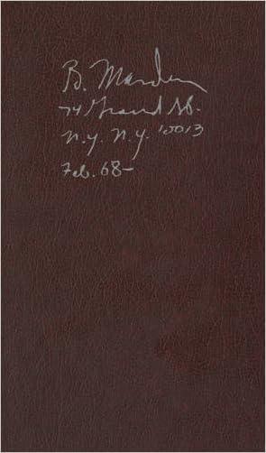 Brice Marden: Notebook Feb. 1968- written by Brice Marden