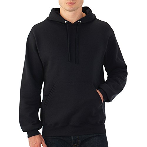 Fruit of the Loom Best Collection™ Men's Fleece Pullover Hood X-Large BLACK/CHARCOAL HEATHER (Medias Fruit Of The Loom Black compare prices)