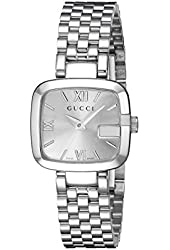 Gucci Women's YA125517 G-Gucci Recognizable Stainless Steel Watch