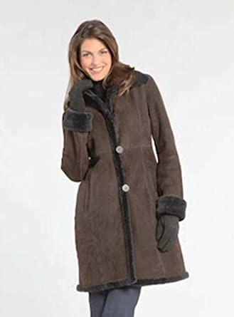 Blue Duck Micro-Shear Shearling Fitted Coat #7203 Womens