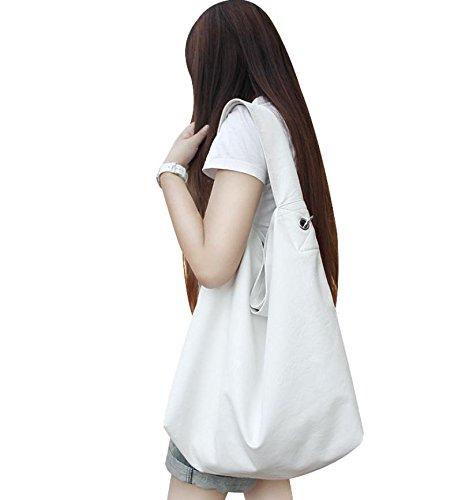 ZY Borse di moda. Borsa minimalista. Borse a spalla femminile. Borsa Messenger. Borse di moda. Borsa bag , white