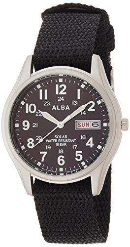 [アルバ]ALBA 腕時計 ソーラー ハードレックス 10気圧防水 AEFD557 メンズ