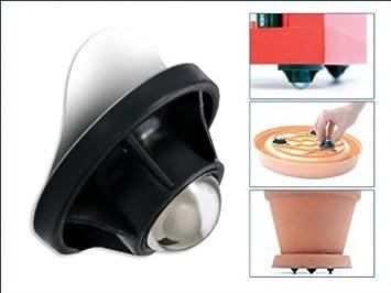5 lot de 4 roulettes roulettes universelles en plastique pour meuble meuble ou pot de fleurs. Black Bedroom Furniture Sets. Home Design Ideas