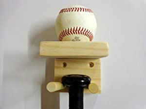 Buy Baseball Bat Rack and Ball Holder Display Meant to Hold 1 Full Size Bat and 1... by MWC