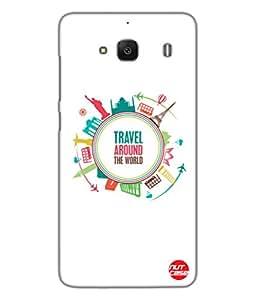 Designer Xiaomi Redmi 2 Case Cover Nutcase -Travel Life Goals