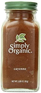 Simply Organic Cayenne Pepper Certified Organic, 2.89-Ounce Container