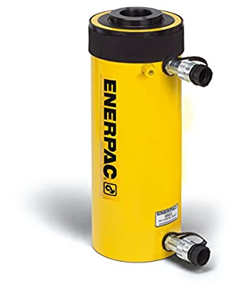 "Enerpac RRH-307 Double-Acting Hollow-Plunger Hydraulic Cylinder with 30 Ton Capacity, Double Port, 7.00"" Stroke Length"