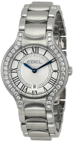 Ebel Beluga Stainless Steel & Diamond Womens Luxury Watch Calendar 1216069