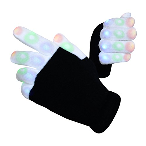 Ohuhu 7 Colors LED Flashing Finger Lighting Gloves for Light Show (Rfb Direct compare prices)