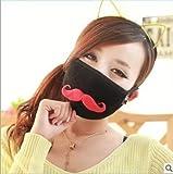 (チ-ンスン) Qingsun 綿 面白い口ひげマスク 紫外線対策 ウイルス 花粉 PM2.5対策 防塵 抗菌 防寒マスク