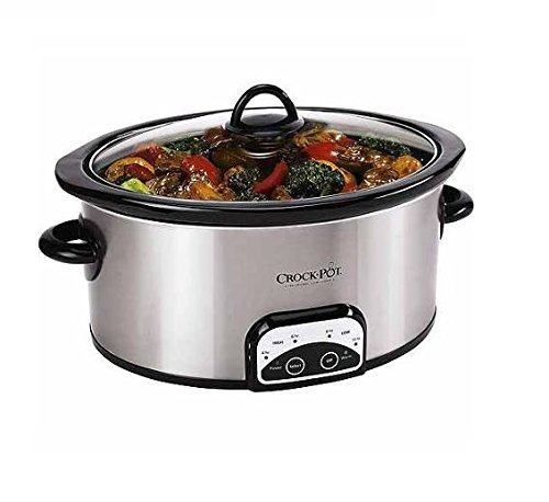 Crock-Pot 7-Quart Smart Pot Programmable Slow Cooker, Stainless Steel, SCCPVP700-S-A-WM1 (Crock Pot 7 Qt Lid compare prices)