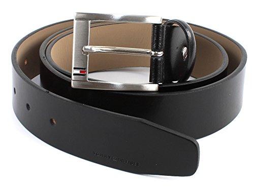 Cintura Tommy Hilfiger, linea Trenton, colore nero, collezione autunno inverno