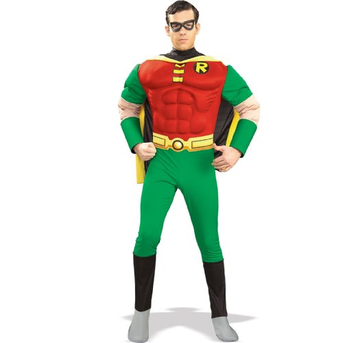 Deluxe Adults Muscle Chest Robin Costume - S, M or L