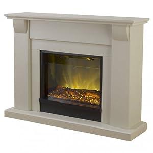 Amazon.com - Adam Novara Electric Fireplace Mantel Package in Stone