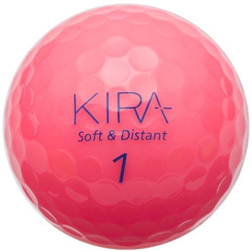 キャスコ(Kasco) キラ ソフト&ディスタント ゴルフボール KIRAピンク 1ダース(12個入) 38035