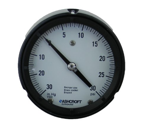Ashcroft Compound Gauges : Ashcroft duragauge type black phenolic case pressure