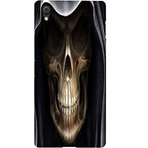 Casotec Devil Skull Design Hard Back Case Cover for Oneplus X