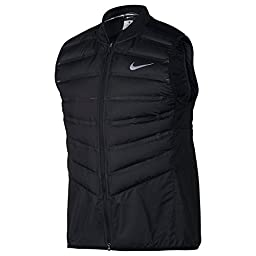 NIKE AEROLOFT 800 MEN\'S RUNNING VEST 683912-010 BLack Large