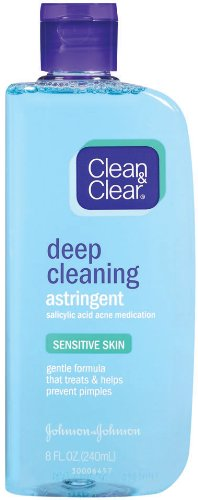 Clean & Clear Deep Cleaning Astringent Sensitive Skin, 8-Ounce (Pack of 2)