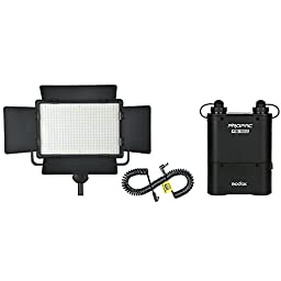 Godox Led500 LUX2900 Yellow Vision Continuous on camera LED Panel Studio Light with Remote Control + PB960 Flash Power Battery Pack 4500mAh + Lx Power Cable for Powering (LED500Y+LX+PB960)