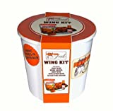Hooters Wing Kit Gift Set - Sauce, Breading Mix, Basting Brush & Wing Shaker