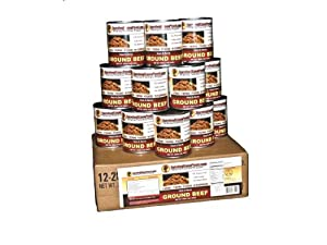 Canned Ground Beef - 1 Case 12 28oz Cans Emergency Long Term Food Storage By Survival... by Survival Cave