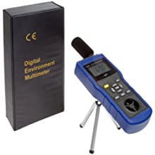 "Supco EM5 Environmental Meter, 3.5"" Length x 2"" Width x 11"" Height, 14 to 140 degree F, +/- 2.7 Degree F Accuracy"