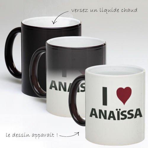 Tasse Mug Magique Personnalise I Love Anaïssa