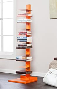 Holly & Martin Heights Book/Media Tower-Orange