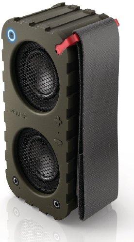 Philips SB5200K/10 Altoparlante Wireless Portatile Bluetooth, Verde Militare