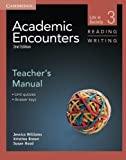 img - for Academic Encounters Level 3 Teacher's Manual Reading and Writing: Life in Society by Jessica Williams (2012-10-08) book / textbook / text book
