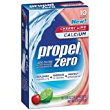 Propel Zero Fitness Water Mix with Calcium Cherry Lime Powder Packets, 1 10-ct Box