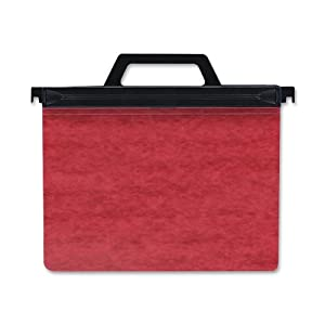 ACCO 2-Hole Laser Printer Hanging Expandable Binder, 8.5 x 11 Inches, Red (55261)