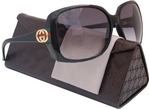 GucciNew Gucci 3166/S D28 Shiny Black Frame/Gray Gradient Lens 59mm Sunglasses