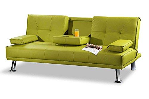Sleep Design Manhattan - Divano letto pieghevole in ecopelle, 3 ...