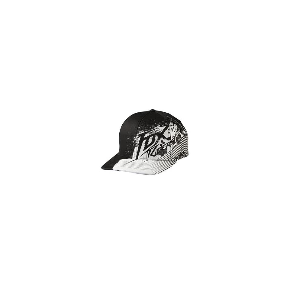 cheaper d766c c6652 Fox Racing Fresh Kill Flexfit Hat L XL Black White