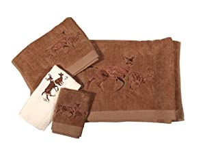 HiEnd Accents Embroidered Deer Towel Set, Mocha at Sears.com