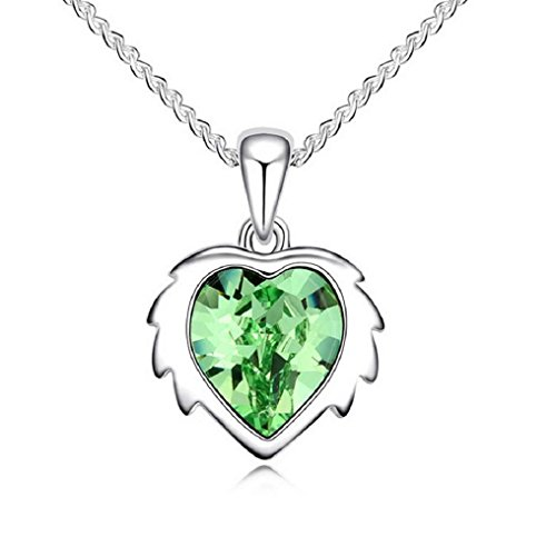 Yuriao Jewelry Elegant Fashion 18k Constellation Leo Crystal Pendant Necklace£¨green£