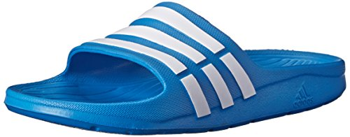 adidas Performance Kids' Duramo Slide Sandal (Toddler/Little Kid/Big Kid),Blue/White/Blue,12 M US Little Kid