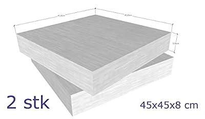 Schaumstoff Platten Set 2 Stück a 45 x 45 x 8 cm sehr feste und langlebige Qualität ( RG40 SH60 ) von schaumstoff com auf Gartenmöbel von Du und Dein Garten