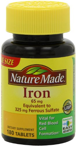 Nature Made Iron 65mg, 180 Tablets