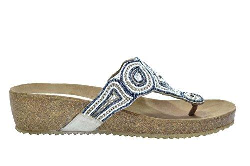Melluso Ciabatte infradito bianco zeppa sandali donna K80006 36