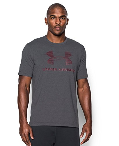 Under Armour Men's Gameday Sportstyle Logo T-Shirt, Carbon Heather (090), Small